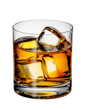 Glass Of Scotch Whiskey With Ice
