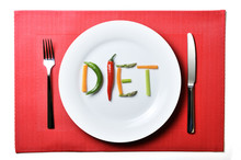 Diet Written With Vegetables I...