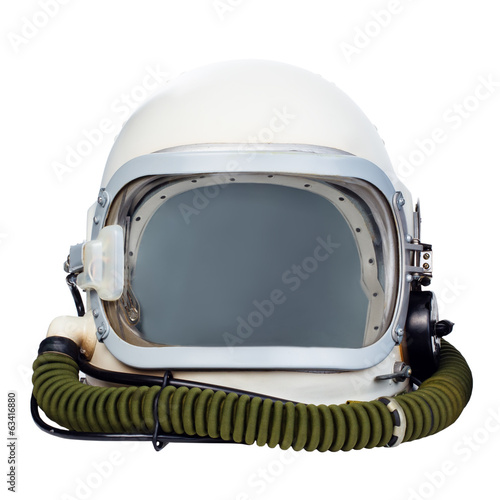 Keuken foto achterwand Nasa Astronaut helmet isolated on a white background.