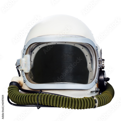 Keuken foto achterwand Nasa Space helmet isolated on a white background.