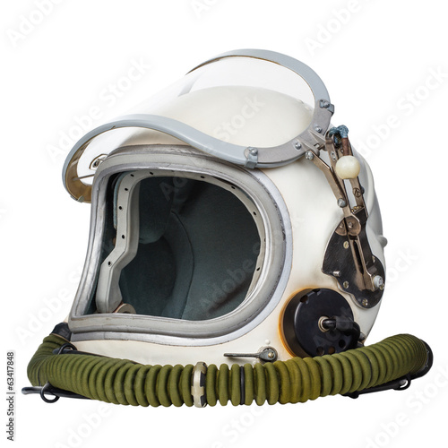Keuken foto achterwand Nasa Astronaut's space helmet isolated on a white background.