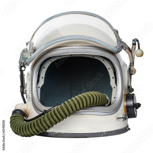 Keuken foto achterwand Nasa Vintage space helmet isolated against a white background.