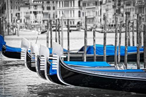 Fotobehang Venetie Venice gondolas
