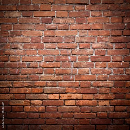 Stary grunge czerwonej cegły ściany tekstura