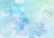 Leinwanddruck Bild - Beautiful Blue Watercolor Background