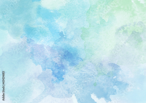 Fotografie, Obraz  Krásné modré akvarelu pozadí