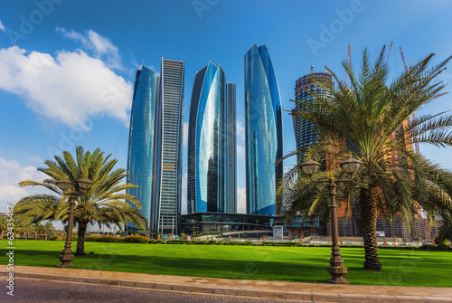 Poster Abou Dabi Skyscrapers in Abu Dhabi, UAE