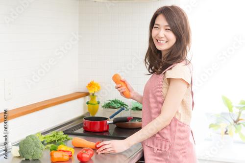 Fotografía  料理をする女性