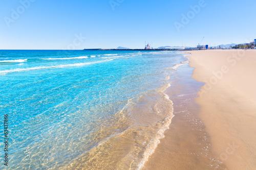 Gandia beach in Valencia Mediterranean Spain