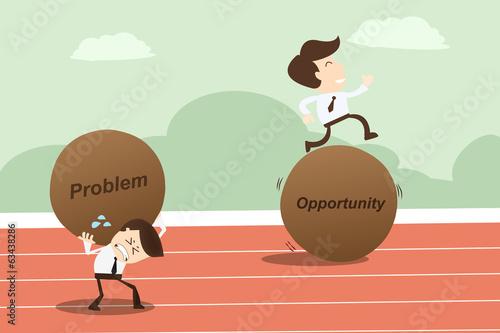 Fotografía Problem opportunity ,Business Concept