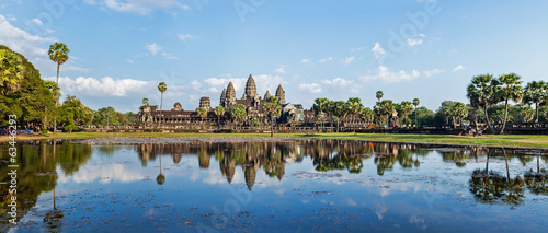 Panorama of Angkor Wat Wallpaper Mural