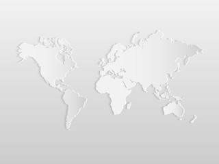 Fototapeta samoprzylepna Paper World Map