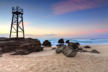Shark Watch Tower And Jagged Rocks  Australia