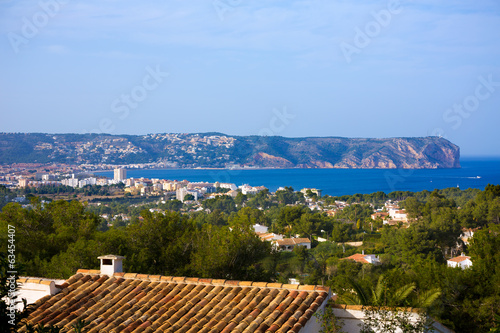 Javea Xabia skyline with San Antonio Cape Alicante Poster