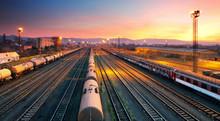 Cargo Freight Train Railroad S...