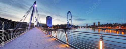 Photo London panorama at night