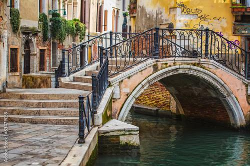 Foto op Plexiglas Venetie Deatil old architecture in Venice