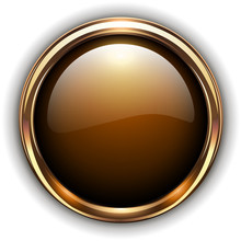 Gold Button Elegant Glossy Met...