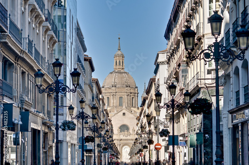 Alfonso I street at Zaragoza, Spain