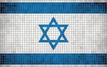 Abstract Mosaic Flag Of Israel
