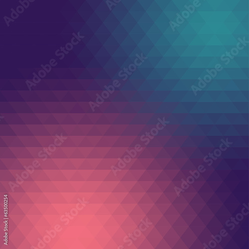 Wall mural - Abstract triangle mosaic gradient background