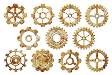 Set Of Rusty Gears