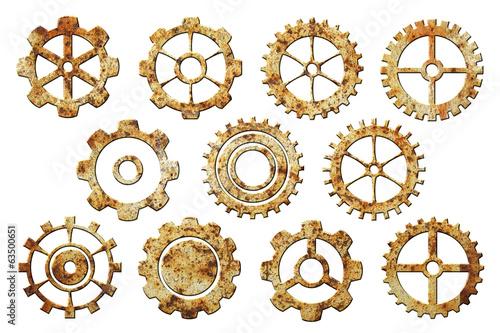 Photo  Set of Rusty Gears