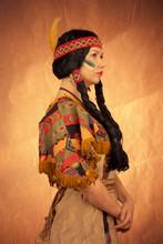 Native American Woman Toned Image