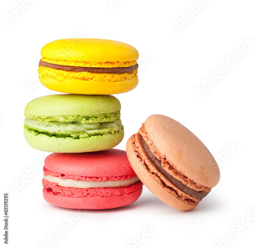 Photo sur Aluminium Macarons Tasty colorful macaroon