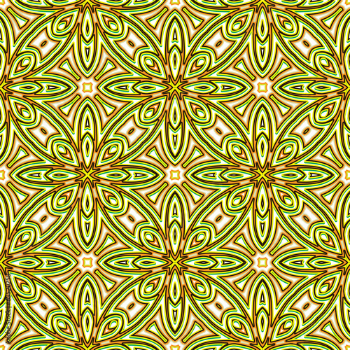 Türaufkleber Künstlich Abstract floral bright green seamless pattern