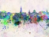 Bern skyline in watercolor background - 63526067