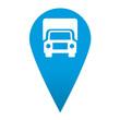 Icono localizacion simbolo camion
