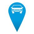 Icono localizacion simbolo automovil