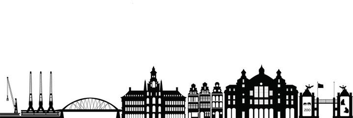 belgium city antwerp skyline