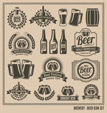 Beer Icon Set - Labels, Poster...
