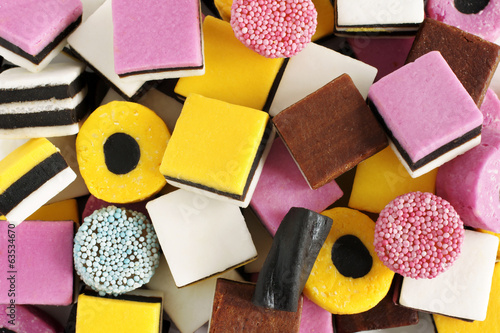 Liquorice all sorts Wallpaper Mural