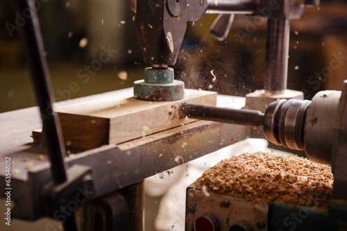 Obraz Drill when working in carpentry - fototapety do salonu