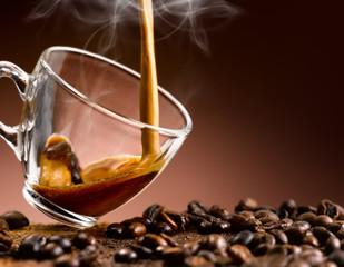 Panel Szklany Do kawiarni espresso