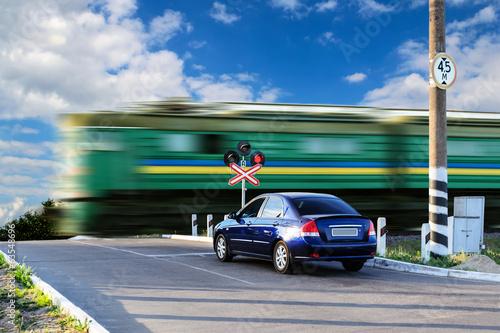 Tableau sur Toile Rail crossing