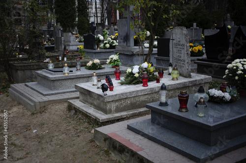Foto op Canvas Begraafplaats Кладбище