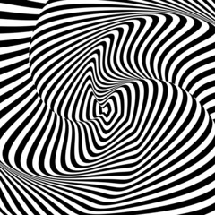 Obraz na Szkle Design monochrome whirl motion illusion background
