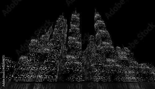 Night city scene