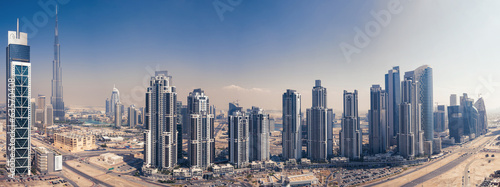 Panoramic view of Burj Khalifa tower