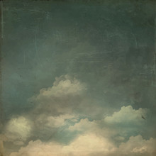 Vintage Grungy Textured Sky Background