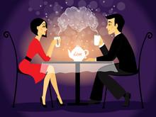 Dating Couple Scene, Love Conf...