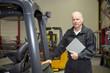 Maintenance engineer with manual