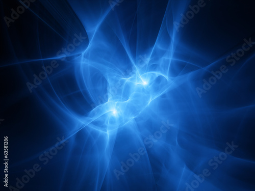 Abstract blue plasma waves