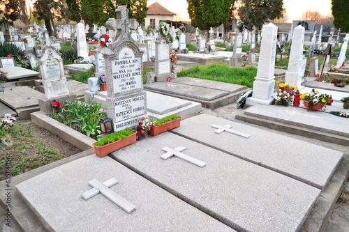 Foto op Canvas Begraafplaats cemetery