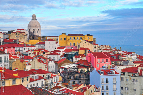 Colorful houses of Lisbon Wallpaper Mural