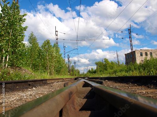 Photo Railway crossroads